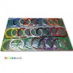24 x 2m PLA Filament Set für 3D-Stifte, diverse Farben, Farbauswahl