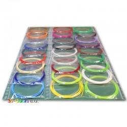 24 x 2m PLA Filament Set für 3D-Stifte, diverse Farben