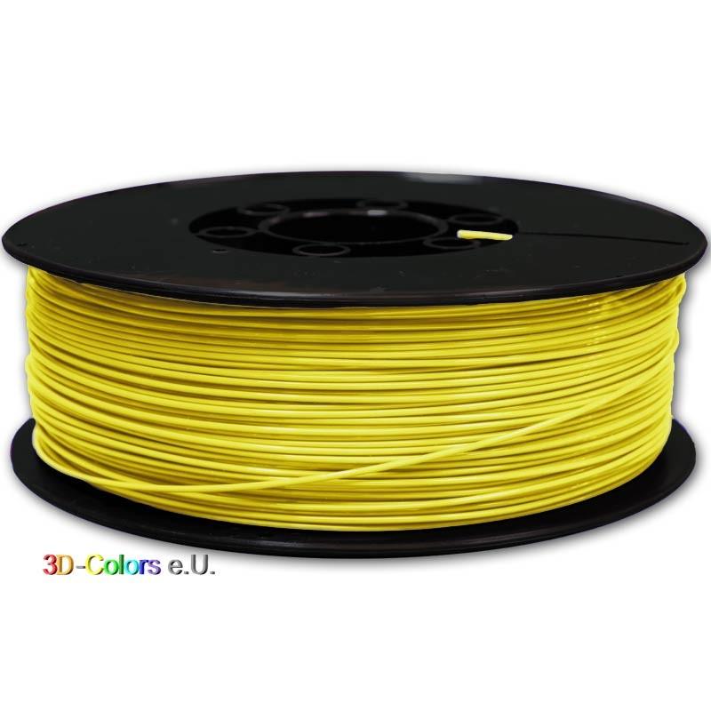 Flexibles Filament Gelb 1kg Rolle, FilaColors