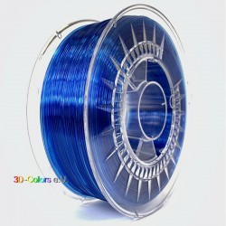 Devil Design PETG Filament super blau transparent, 1 kg, 1,75 mm