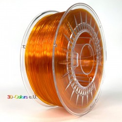 Devil Design PETG Filament hellorange transparent, 1 kg, 1,75 mm