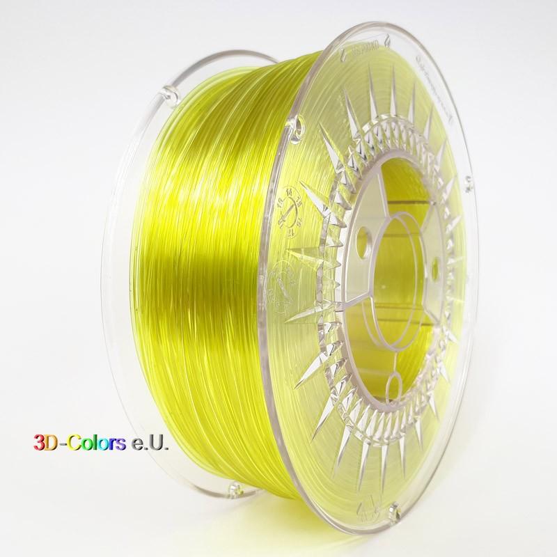 Devil Design PETG Filament hellgelb transparent, 1 kg, 1,75 mm
