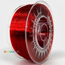 Devil Design PMMA Filament rubinrot transparent, 1 kg, 1,75 mm